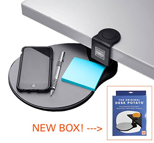 Original Desk Potato by Stand Steady - Easy Clamp Attachable Desk Shelf / Mouse Pad/ Buy 2 and Make a Keyboard Tray! Best-Seller!