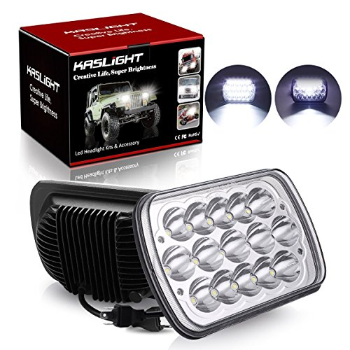 H6054 Led Headlights, 2 Yr Warranty Pair 7x6 Led Headlights 5x7 Led Headlight 6054 Led Headlight 7x6 Headlights H6054 Led Headlight Hi/Low Sealed Beam 7x6 Headlight Lamp for Jeep Xj Yj Cherokee E250
