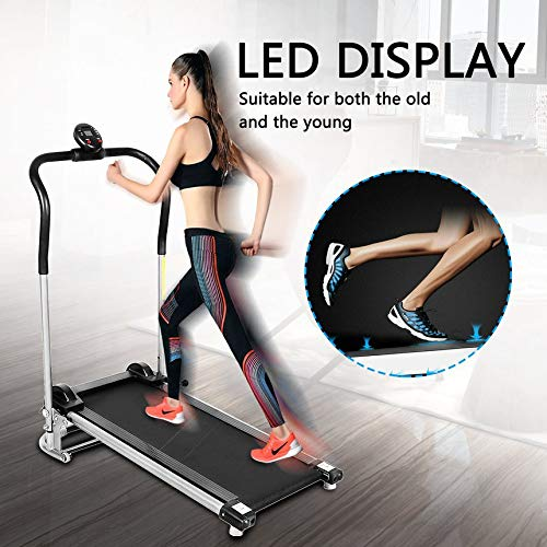 Folding Free Assembly Health Fitness LED Display Treadmill Running Machine