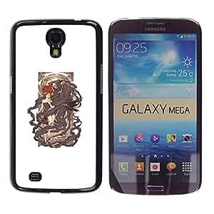 EJOY---Cubierta de la caja de protección la piel dura para el / Samsung Galaxy Mega 6.3 / --Grim Reaper Cama
