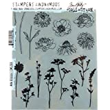 Tim Holtz Cling Stamps 7''x8.5''-mini Bouquet