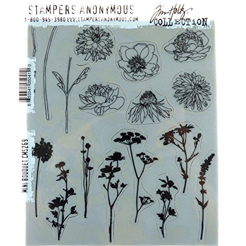 Tim Holtz Cling Stamps 7''x8.5''-mini Bouquet by Tim Holtz (Image #3)