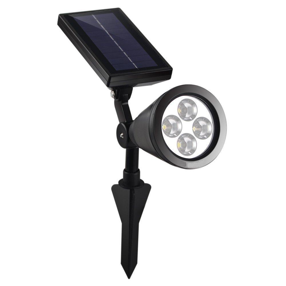 LIEYANG Outdoor Bright White/Warm White 4 LED Solar Spotlight / Solar  Powered Light for Landscape, Garden, Driveway, Pathway, Yard, Lawn, Etc   Solar