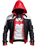Jjacket Batman Arkham Knight Red Hooded Men Vest and Jacket 2 in 1 (L)