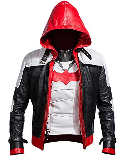 - Batman Arkham Knight Red Hooded Men Vest and Jacket 2 in 1 (XL)