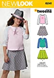 Simplicity Creative Patterns New Look 6241 Girls' Skirts and Knit Tops, A (8-10-12-14-16)
