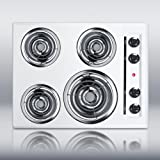 Appliances : Summit WEL03 Electric Cooktop, White