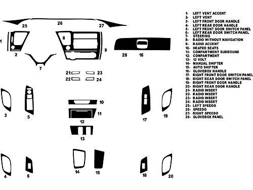 Rdash Dash Kit Decal Trim for Honda Civic 2012 (Sedan) - Carbon Fiber 3D (Black) (Honda Civic Carbon Fiber Dash Kit compare prices)