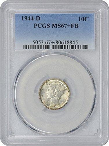 1944 D Mercury Dime MS67+FB PCGS - Ms67 Dimes