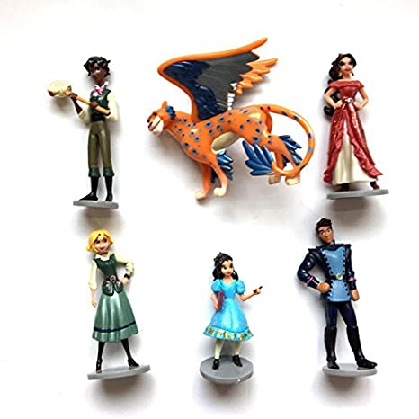 6pcs Elena of Avalor Pincess Skyla Figure Figurine Play set Toy Doll Cake Topper