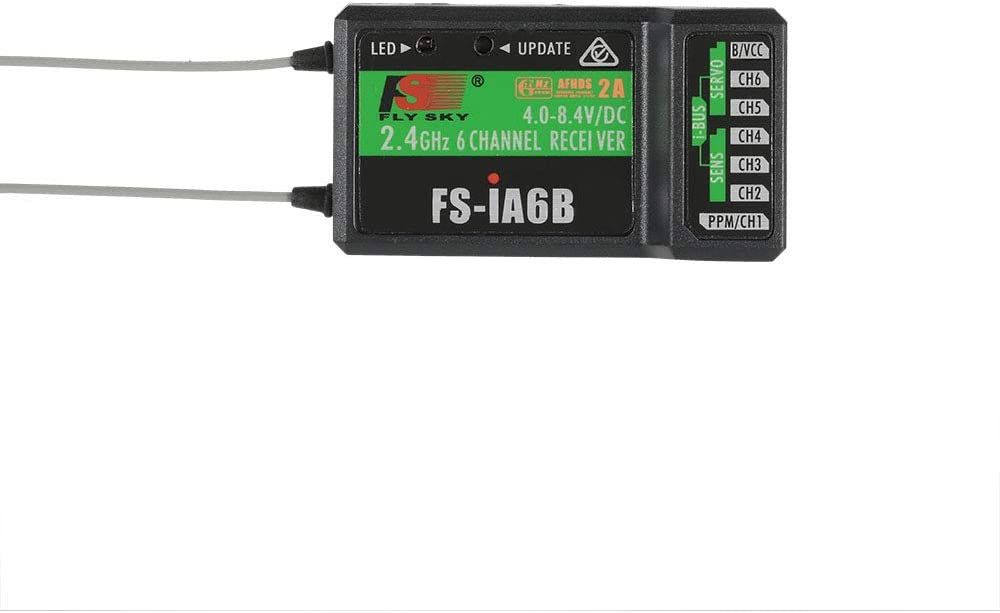 FS-i6 Flysky RC FS-iA6B Receiver 2.4G 6 Channel i-Bus PPM Receiver Compatible with Flysky FS-i6X FS-i4 FS-i10 Radio Transmitter Remote Controller