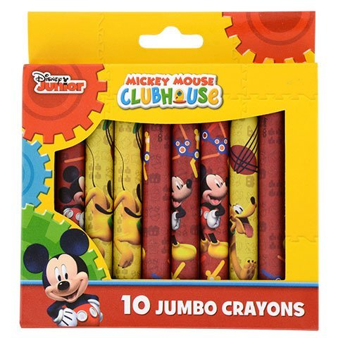 Back to School Toddler Pre-school Elementary School Supplies Crayons Mickey Mouse (1 Pack)