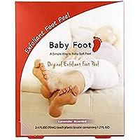 Baby Foot Deep Exfoliación para pies, aroma lavanda, 2.4FL. oz, Paquete de 1, Transparente