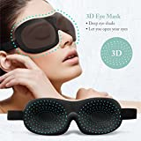 Sleep Mask for Women Men & Kids, Upgraded Contoured 3D Eye Mask , Travel Eye Cover for Sleeping, Sleeping Aid for Insomnia, Soft & Blindfold Sleeping Mask, Large Space for Eyes, Totally Blocks Light