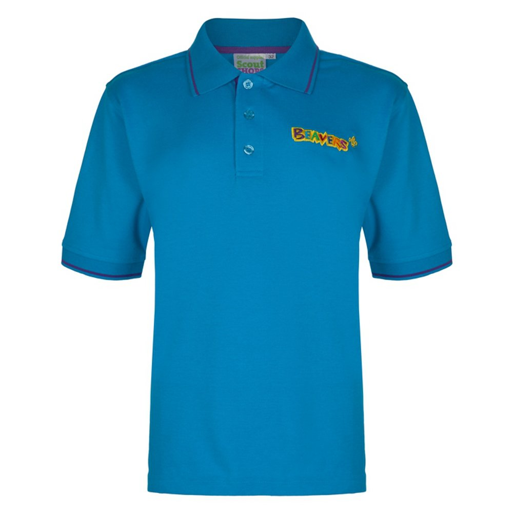 Beaver Scouts Tipped Polo Shirt - OFFICIAL PRODUCT