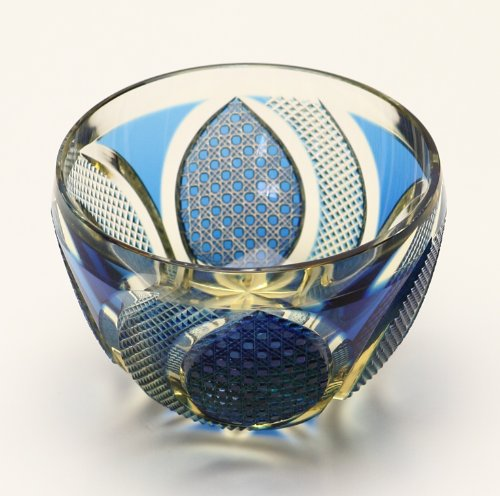 Edo Kiriko Guinomi (Sake Glass): Blue
