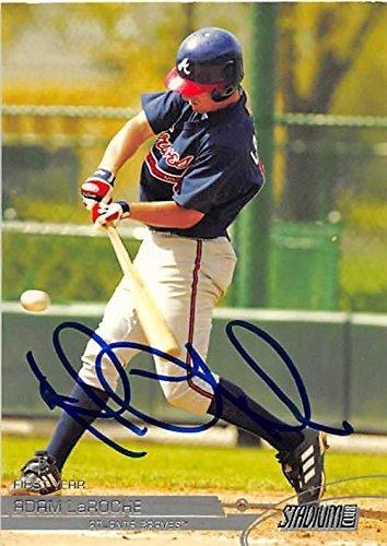 Adam LaRoche autographed Baseball Card (Atlanta Braves, FT) 2002 Topps Stadium Club #118 - Baseball Slabbed Autographed Cards