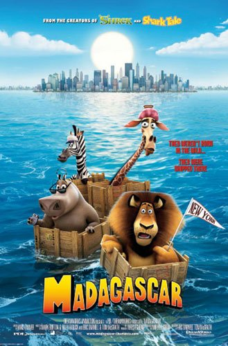 Madagascar - Movie Poster (Size: 27'' x 40'') (Poster & Poster Strip Set) (Madagascar Movie Poster)