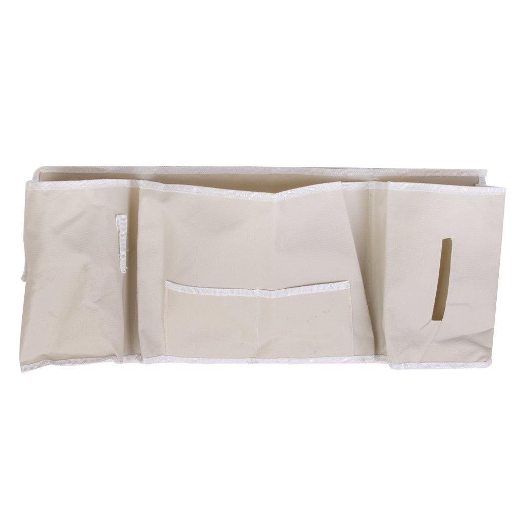 Amyjazz 5-pocket Bedside Caddy organizer da appendere ripiano–beige