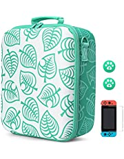 $37 » Arttodo Animal Crossing Travel Carrying Storage Case for Nintendo Switch, Hard Protective Bag for Switch Console, Pro Controller and Accessories, Including Screen Protector and Thumb Grip Caps