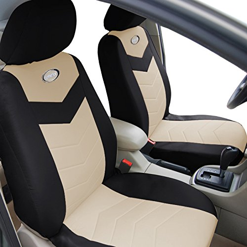 Air Bag Compatible Universal Car Seat Covers Black And Tan