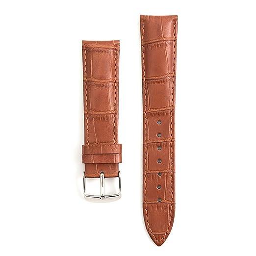 Nudo de bambú en Relieve de Reloj de Cuero Correa de Repuesto para los Hombres y Las Mujeres de los Relojes Colores Ricos (marrón Claro): Amazon.es: Relojes