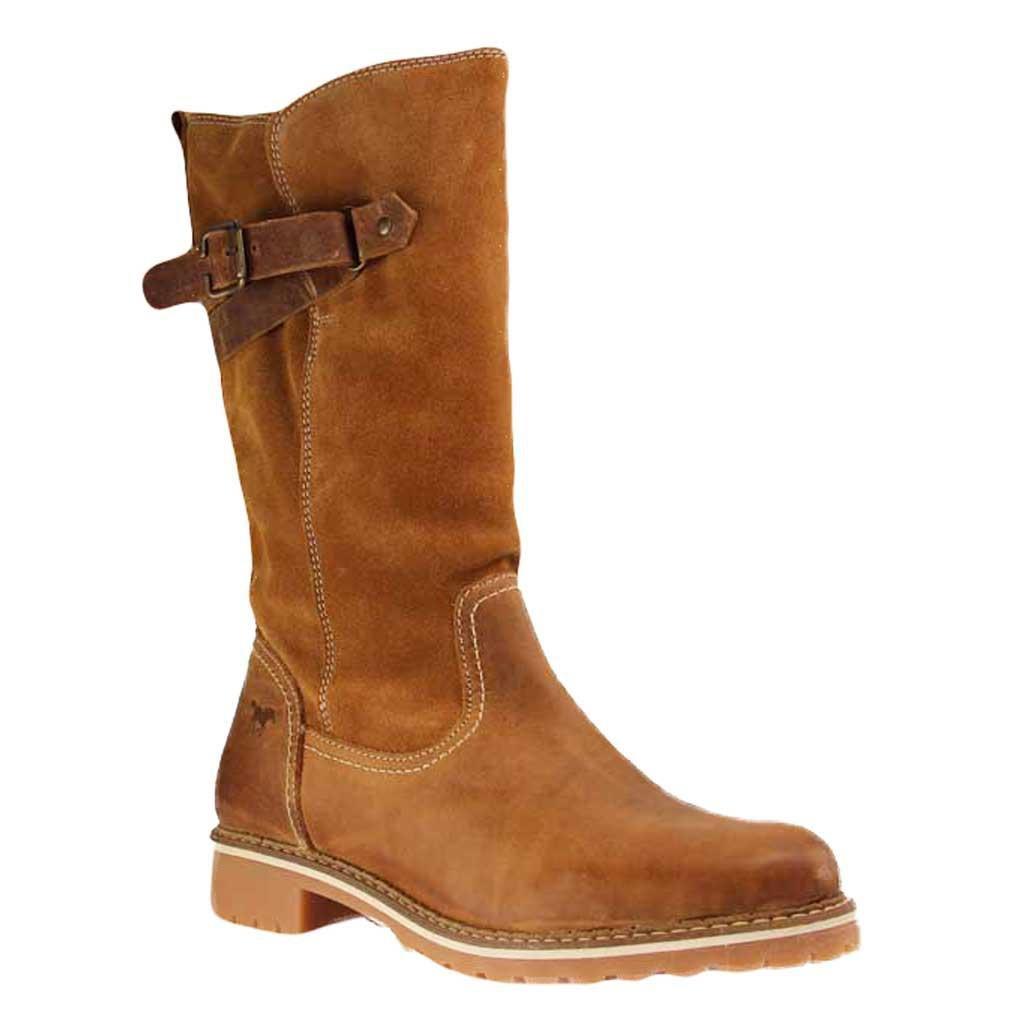 Mustang schuhe Stiefel in Übergrößen Braun 2837-610-318 große Damenschuhe