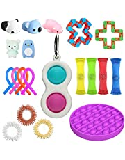 20PCS Fidget Toy Set, Sensory Fidget Toys,Handheld Mini Fidget Toy, Fidget Simple Dimple Toy Stress Relief Hand Toys, Unique Idea That is Light On The Fingers and Hands for Kids Adults