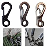 Workouty 10 Pcs Camping EDC Backpack Carabiner Mini Spring Clips Climbing ...