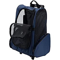 Meiying Roll Around 4-in-1 Pet Carrier Travel Backpack for Dogs and Cats Travel Tote Airline Approved