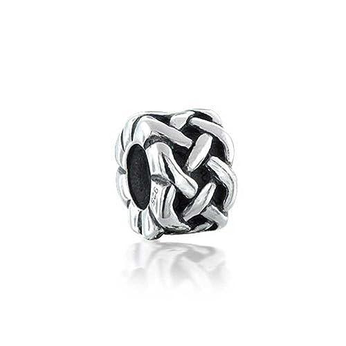 e2cc9f66e Amazon.com: Irish Celtic Love Knot Work Symbol Spacer Bead Charm 925 Silver  For European Bracelet For Couples Women Girlfriend: Pandora Charms Sterling  ...