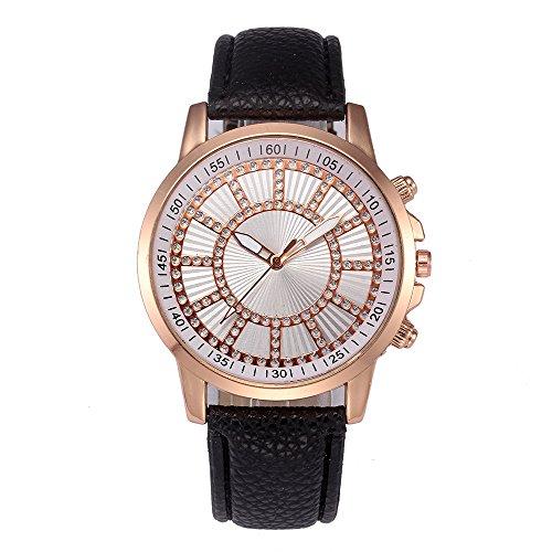 20 Womens Diamonds Watch (Mens Watches on Sale Clearance COOKI Men's Fashion Dress Wrist Quartz Watch with Diamonds Digital Dial Leather Band Unique Casual Analog Quartz Watches Classic Business Wristwatch X58 (Black))