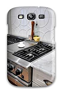 DebAA Fashion Protective Gourmet Oven And White Backsplash With Geometric Textured Tile Case Cover For Galaxy S3