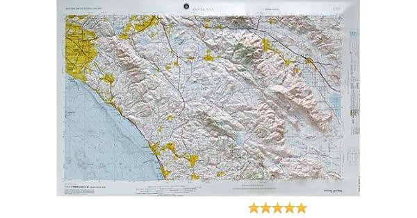 Santa Ana regional planteadas Mapa de socorro en el Estado de ...