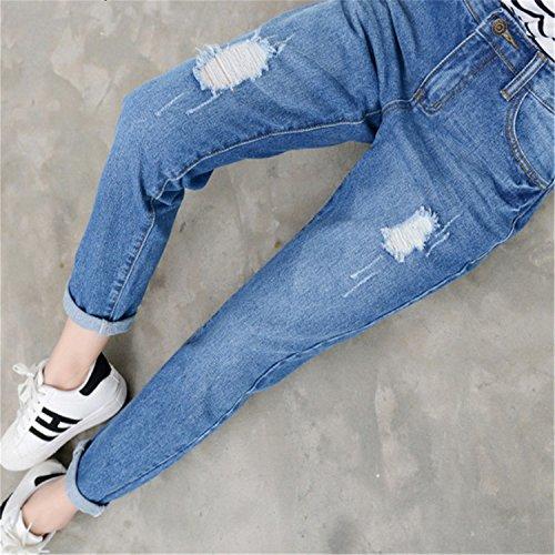 Push Taille pour Blue Dark Dchir Mode Pantalons pour Coton Femmes Pantalons Haute Jeans Jeans d't Up Auspicieux Dames Jeans Dchir Bleu Dcontracts Femmes Les zpqHXn4