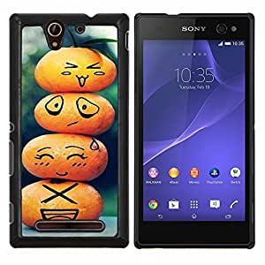 For Sony Xperia C3 Case , cvetok Korona voda- Diseño Patrón Teléfono Caso Cubierta Case Bumper Duro Protección Case Cover Funda