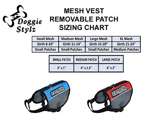 Image of Doggie Stylz Set of 2 Reflective IN TRAINING Removable Patches for Service dog harnesses & vests.