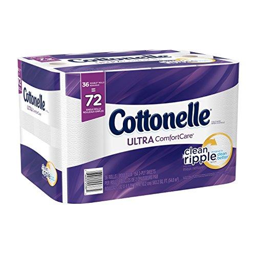 Cottonelle Ultra Comfort Care Double Roll Bath Tissue, 36 Count (Double Toilet Paper Cottonelle Roll)