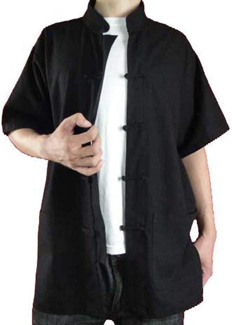 Interact China Camisa de Tai Chi hecha a mano de algodón suave #121