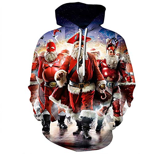 U LOOK UGLY TODAY Unisex Sweatshirt Medium, Santa Alliance