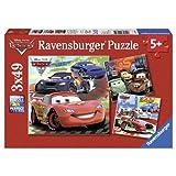 Ravensburger Disney Cars: Worldwide Racing Fun (3 x 49-Piece) Puzzles in a Box