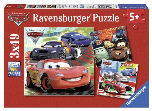 Ravensburger Disney Cars: Worldwide Racing Fun (3 x 49-Piece) Puzzles in a Box (Disney Pixar Cars Puzzle)