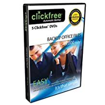 ClickFree DVD Office Edition - 5 Pack - Backup your Documents Instantly!