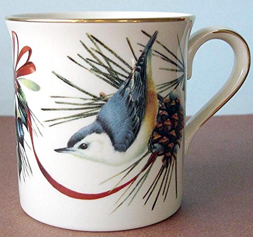Lenox Winter Greetings Nuthatch Mug Bird & Ribbon Motif New ()