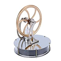 Yosoo Low Temperature Stainless Steel Stirling Engine Steam Heat Education Model Toy Creative Gift Toy