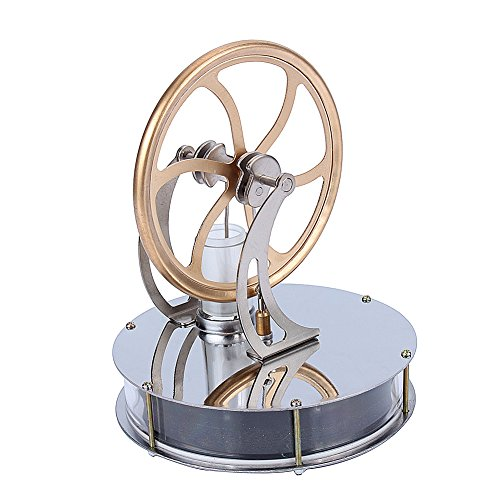 Yosoo Low Temperature Stainless Steel Stirling Engine Steam Heat Education Model Toy Creative Gift -