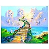 Taneed DIY 5D Diamond Painting Kit Full Drill Stairway to Heaven Arts Craft Canvas Diamond Paintings