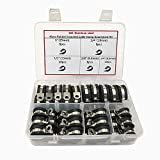 Cable Clamp,46 Pieces Stainless Steel Rubber Cushion Pipe Clamps Line Clamps Assorted in 5 Size 1/4'' 3/8'' 1/2'' 3/4'' 1'',Cable Clamp Kit