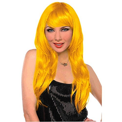 Amscan Glamourous Party Wig Costume, Yellow]()