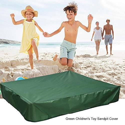 - FOONEE Sandbox Cover, Square Dustproof Protection Sandbox Canopy with Drawstring, Waterproof Sandpit Pool Cover, Avoid The Sand and Toys Contamination, Green,47.24 X 47.24in